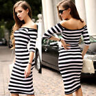 Women Long Maxi Beautiful Sexy off shoulder Party Evening Cocktail Dress 4 Size
