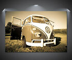 Vintage VW Camper Van Large Poster - A0, A1, A2, A3, A4 sizes