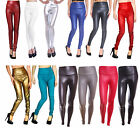 Women Faux Leather High Waist Skinny Leggings Pants Trousers S, M, L