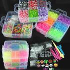 Wholesale 4500 X  Colourful Rubber Loom Bands Bracelet DIY Making Kit