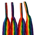Gay Pride Rainbow Flat 10mm Laces - TZ Branded - For Boots, Shoes, Trainers