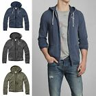Abercrombie & Fitch Men's Burnout Hoodie Tee Zip Up New Size M, L, XL, XXL