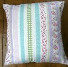 Laura Ashley Clementine Pink/Multi Stripe Fabric Design Scatter Cushion Cover