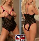 Sexy Open Bust Bra Adult Crotchless Crotch Lace Underwear Lingerie Toy Babydoll