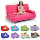 Childrens Cotton Twill Clic Clac Sofa Bed with Armrests Futon Sofabed Kids Guest