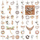 Vintage Gold Plated Clear Crystal Rhinestone Exquisite Bird Brooch Pin Jewelry