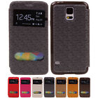 Luxury Unique PU Leather Flip Wallet Protector Case For Samsung Galaxy S5 i9600