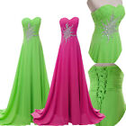 Sexy Strapless Ball Gown Sequins Long Wedding Evening Party Floor Length Dresses