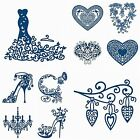 Tattered Lace Metal Dies Stephanie Weightman Dress Shoe Hearts Chandelier Circle