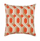 Mill Creek Tropix Malcolm Carrot Orange Modern Geometric Outdoor Throw Pillow
