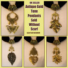 Gold Tone Pendant Necklace Jewellery Charm Accessories to put on own scarf