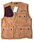 POLO RALPH LAUREN BROWN KHAKI LEATHER PATCH HUNTING FISHING UTILITY VEST $295
