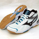 Mizuno Japan Men's WAVE STARDOM RX2 MID Volleyball Shoes White Blue 2014 New