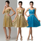 New Hot Bling Sequin Evening Formal Bridesmaid Wedding Prom Ceremony Party Dress