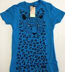 Animal Planet Leopard Blue Fitted T-Shirt
