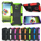Rugged Hybrid Hard Case Cover Clip Holster 2in1 Armor Samsung Galaxy S5 SV i9600
