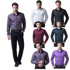 6 Color New Stylish Men's Long Sleeve Button Down Casual Dress Shirt Classy Tops