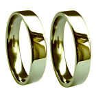 4mm 18ct 750 Yellow Gold UK HM Heavy & Extra Heavy Flat Court Wedding Band Ring