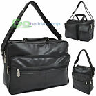 Faux Leather Flight Bag Cabin Size Hand Luggage Weekend Travel Overnight Holdall