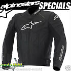 Alpinestars Atem Leather Jacket Fluro Motorcycle Racing Motorbike Sport Moto GP