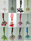 New Organza Silver Beaded  Key Tassel  avaiable in 12 Different Colours