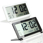 Multifunctional portable Thin flip cover LCD alarm clock Plastic Large Display