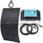 12V 20W 30W 50W 60W 75W 100W Flexible Solar Panel Kit, 10A Regulator, 10m Cable