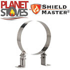 Stainless Steel Shieldmaster 50-80mm Wall Support For Twin Wall Flue Pipe