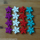 5 - Novelty Wooden Buttons - Large Snowflake - Kids - Christmas - Cardmaking
