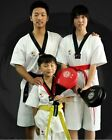TaeKwonDo Kids/Adult Martial Arts Gym karate Uniforms TKD Short-Sleeve Costume
