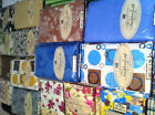 """NEW FLANNEL BACK TABLE CLOTH 60"""" Round VINYL SEAT 4 - 6 Pick Your Design"""