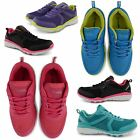 NEW LADIES COMFORTABLE FLAT SPORTS MESH SHOES WOMENS WALKING LEISURE TRAINERS