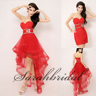 2014 Organza Cocktail Party Prom Gowns Red Detachable Homecoming Club Dresses