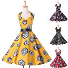 Fashion ROCKABILLY Vintage Dress 1950s style Summer Party Prom Ball Swing Dress