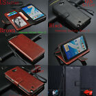 Genuine Real Leather Flip Wallet Case Cover For Samsung Galaxy Note 2 II