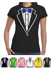 Ladies Tuxedo T Shirt Australian Flag Bow Prom Hens Fancy Dress Cricket Rugby
