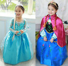 GIRLS CHILDRENS KIDS FROZEN FANCY DRESS COSTUME ANNA ELSA OUTFIT DRESSING UP