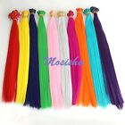 """5pc Solid 20"""" Colorful Synthetic Highlight Straight Hair Piece Hair Extension MO"""