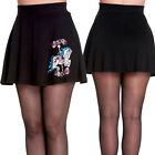 Hell Bunny Carousel Skirt Black Pleated Short Punk Rock