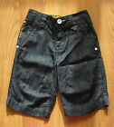 BNWT NEXT 2012 Dark Wash Denim Shorts Adjustable Waist 2-3 Yrs