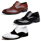 Mens Leather Ankle Lace Up Slip On Loafer Leisure Boy Driving Casual Shoes Boots