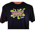 Neon Myrtle Beach South Carolina Splash Ocean Vacation Spot  Seaside T-Shirt