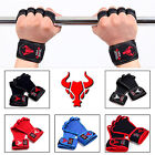 New Weight Lifting Pad Fitness Crossfit Gloves Training Body Building Gym Straps