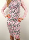 Womens Lace Bodycon Dress Midi 'Boutique Style' Bandage Skirt  Party 8 10 12 14