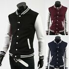 Long Sleeve Sports Mens Casual Slim Coats Jacket Topcoat Button Collarless TOPS