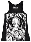 Disturbia Far Out Tank Top Alien Punk Gothic Rock Rave Cyber