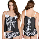 Too Fast Occult Bone PJ Set  Pyjamas Goth Skeleton Sleepwear