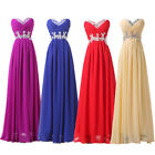 Long Red Prom Bridesmaid Evening Cocktail Formal Party Ball Gown Dresses Size 20