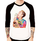 MILEY CYRUS-Ice Cream Baseball t-shirt 3/4 sleeve Raglan Tee