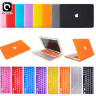 """Rubberized Hard Case Keyboard Cover LCD Film For Apple Mac Book Air 11""""/ 13"""" Pro"""